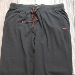 Tommy Bahama Black / Red Lounge Pants, Size Large